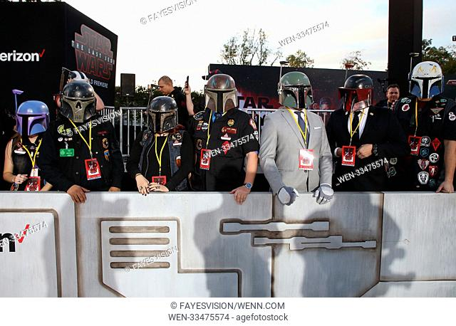 Premiere Of Disney Pictures And Lucasfilm's 'Star Wars: The Last Jedi' Featuring: Atmosphere Where: Los Angeles, California