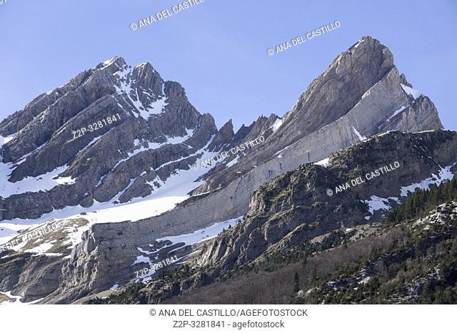 Pineta glaciar cirque in Espierba Huesca Aragon Spain