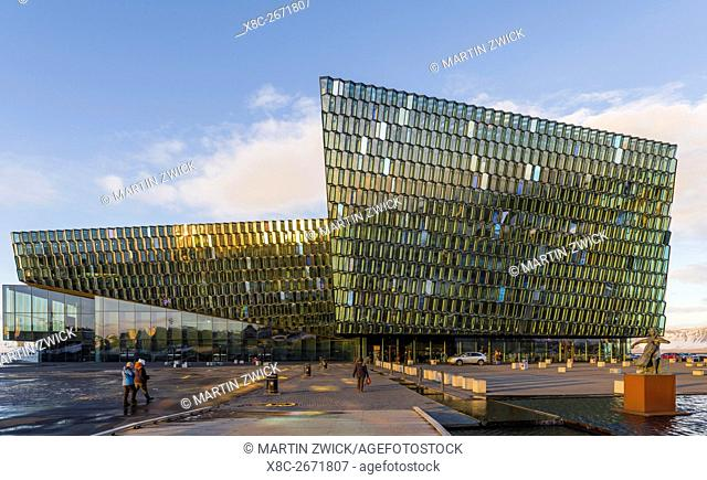 Reykjavik, Harpa, the new concert hall and conference center (inaugurated in 2011). The buidling is one of the new architectural icons of Iceland