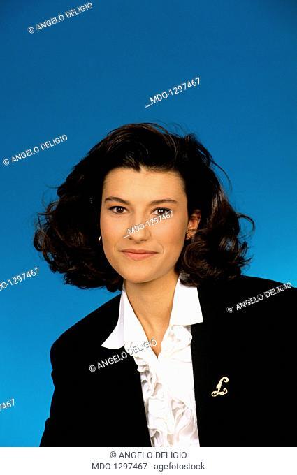 Portrait of Laura Pausini. Portrait of the Italian singer Laura Pausini. 1993