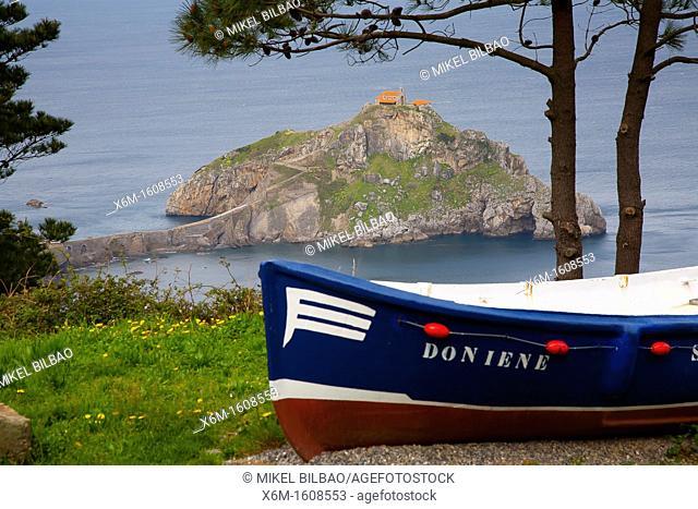 Coastline and hermitage in San Juan de Gaztelugatxe  Bermeo, Biscay, Basque Country, Spain