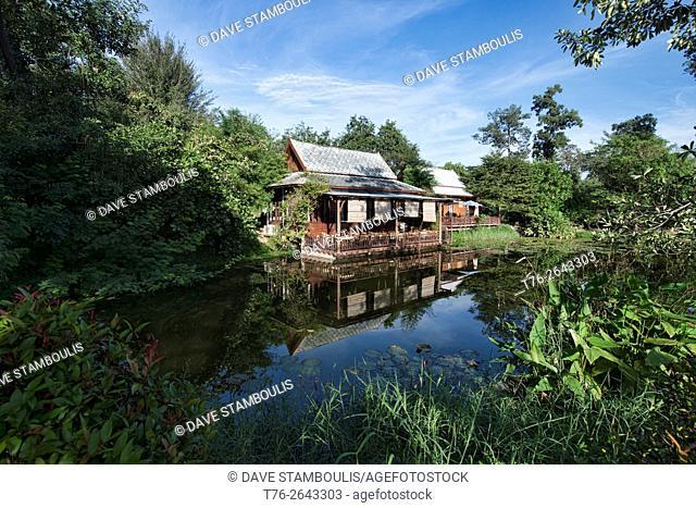 Traditional Thai house on a quiet lake, Hua Hin, Thailand