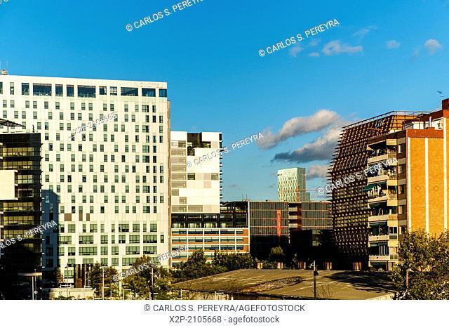 Modern architecture in Poblenou, Barcelona, Catalonia, Spain, Europe
