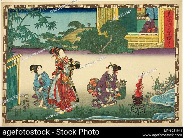"No. 37, from the series """"That Purple Image in Magic Lantern Shows (Sono sugata yukari no utsushie)"""" - c. 1847/52 - Utagawa Kunisada I (Toyokuni III) Japanese"