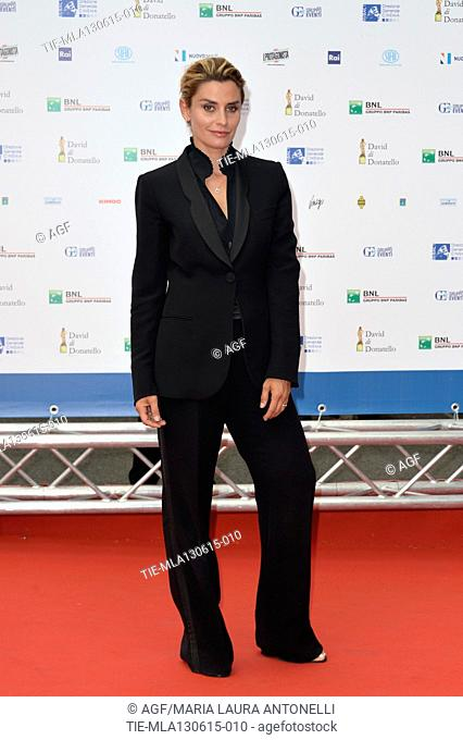 Angelica Russo during the red carpet of David di Donatello Awards, Rome, 12/06/2015