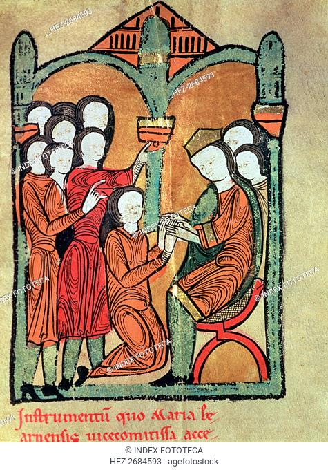 The Countess de Bearn pays servitude to King Alphonse I the Chaste (1162 - 1196), agreeing not to?