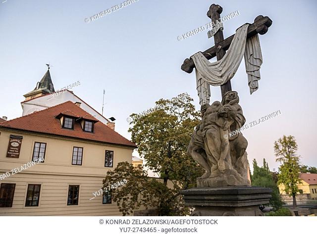 Pietà statue in Pilsen city, Czech Republic