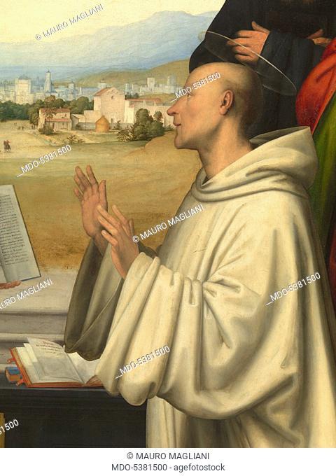 The Vision of St. Bernard (Visione di san Bernardo), by Fra Bartolomeo, 1504-1507, 16th century, oil on board, 215 x 231 cm