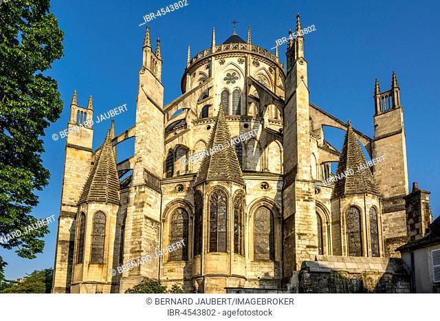 Cathedral Saint Etienne, UNESCO World Heritage, Bourges, Department Cher, Region Centre-Val de Loire, France, Europe