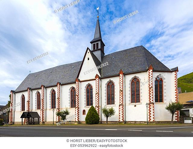 The monastery church of the former Minorites monastery in Merl at the Moselle. Rhineland-Palatinate, Germany, Europe