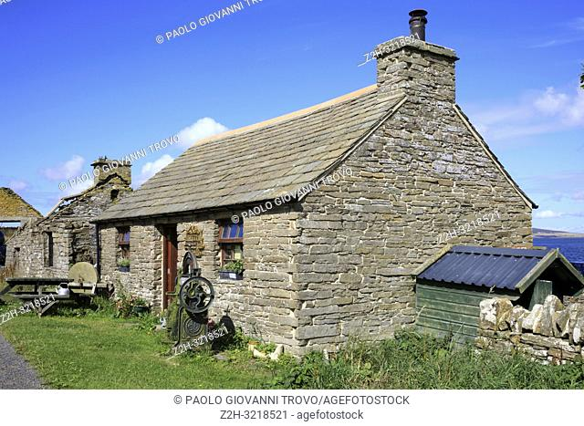 A typical house in the Orkney islands, Orkney, Scotland, Highlands, United Kingdom