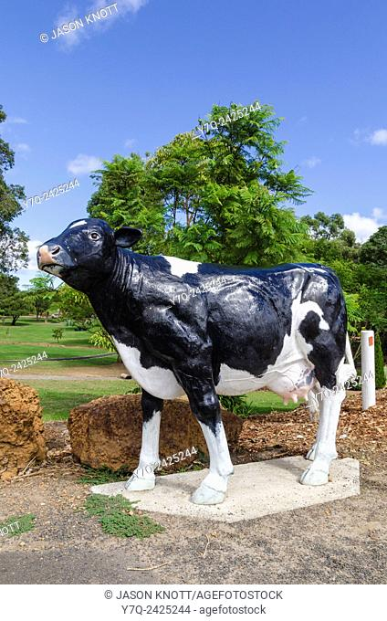 Life-size Friesian dairy cows can be found throughout the country town of Cowaramup, Western Australia