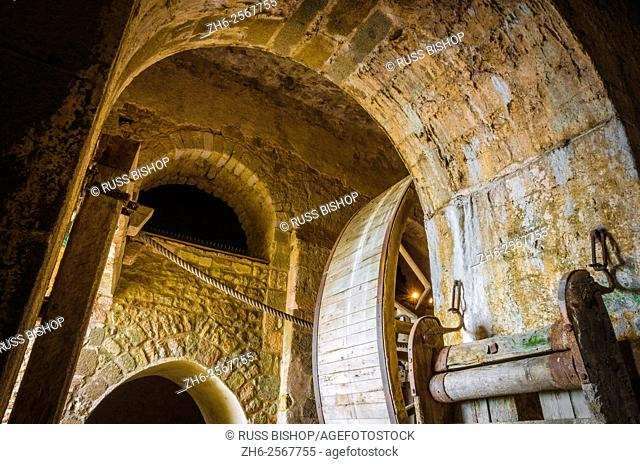 Abbey mill, Mont Saint-Michel monastery, Normandy, France