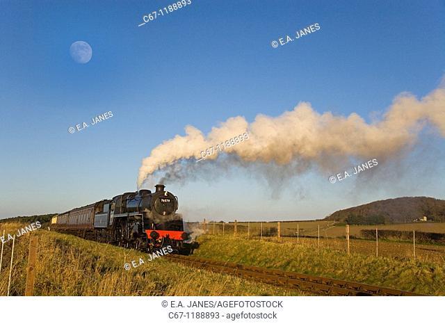 Steam Locomotive Poppyline Norfolk UK Winter