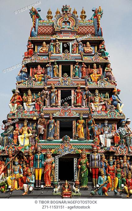 Singapore, Sri Mariamman hindu temple