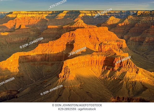 Morning light on the North Rim, Grand Canyon National Park, Arizona, USA