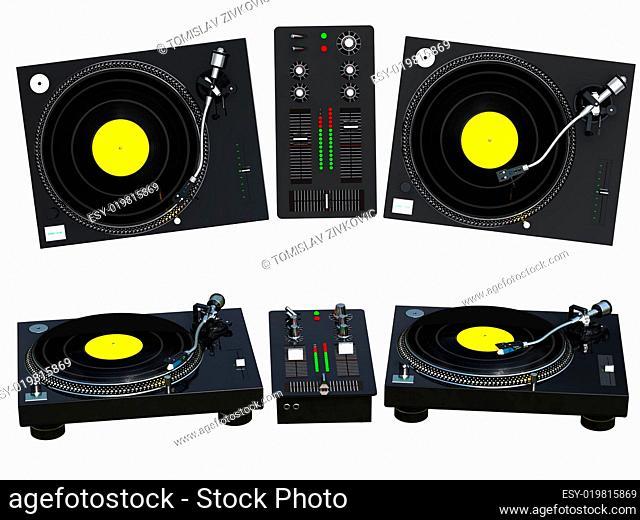 DJ mixing set