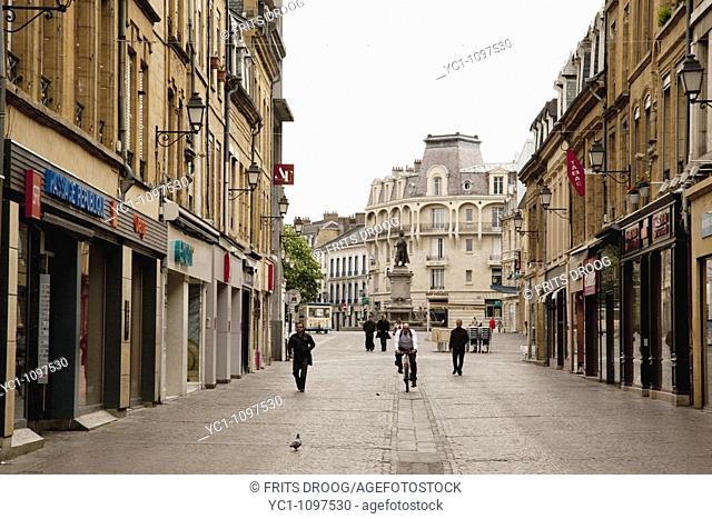 Main shopping street, Charleville-Mézières, Ardennes, Champagne-Ardenne, France