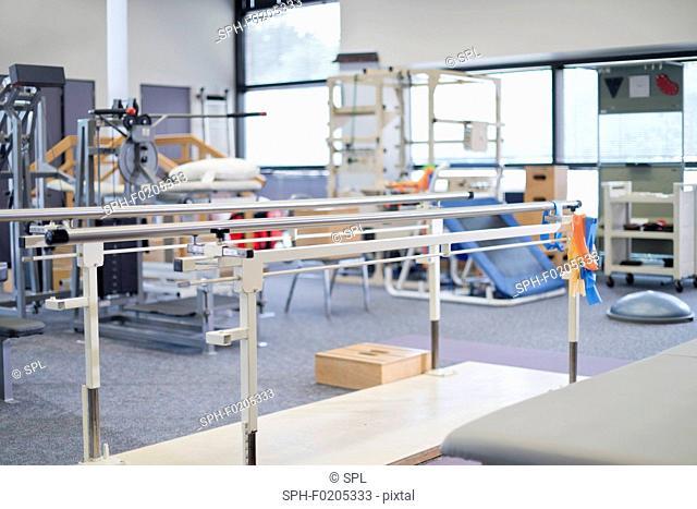 Rehabilitation gym in hospital