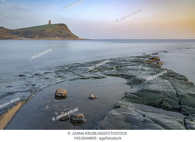 Kimmeridge Bay, Clavell Tower, Jurassic Coast, Dorset, England, UK