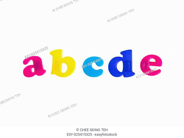 Alphabet letters isolated on white background