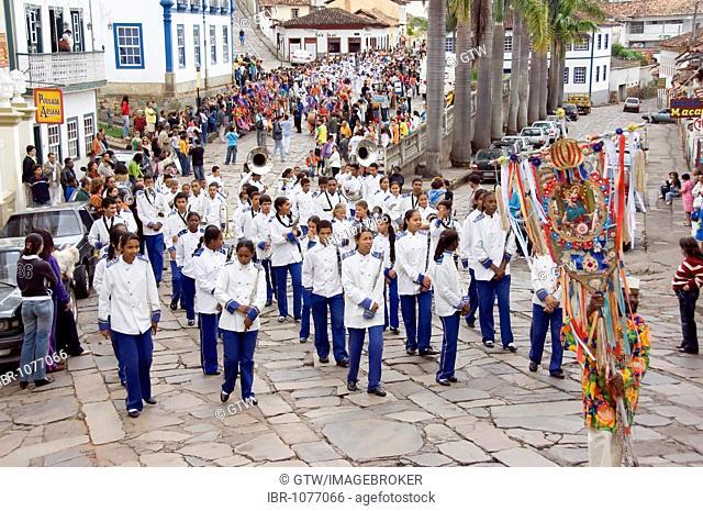 Festa de Nossa Senhora do Rosario dos Homens Pretos de Diamantina, religious festival of the black people of Diamantina, Minas Gerais, Brazil