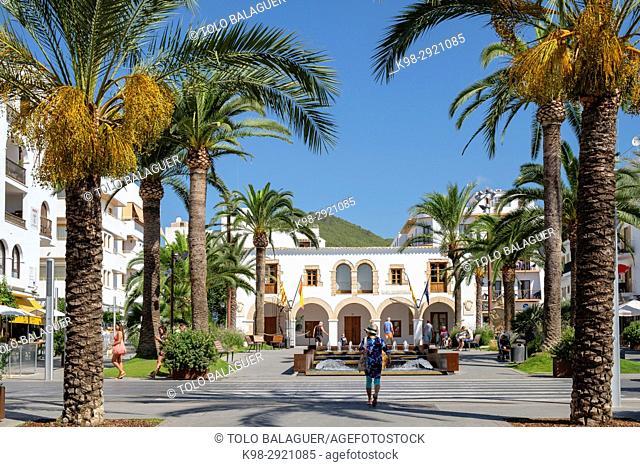 Paseo de S'Alamera, Santa Eulària des Riu, Ibiza, Balearic Islands, Spain