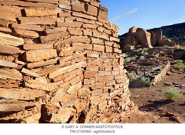 A Pueblo Residence's Wall of the Anasazi in Arizona