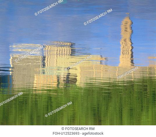 Abstract skyline reflection