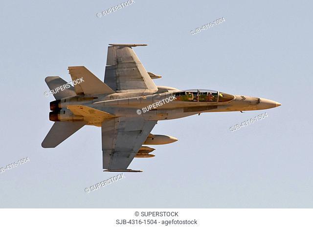A U.S. Marine Corps F/A-18D Roars Overhead