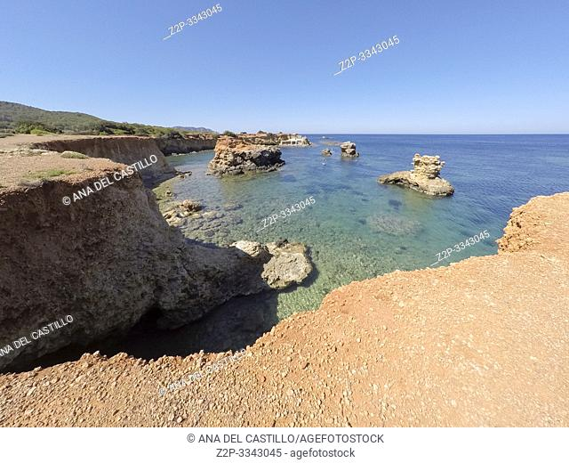 Ibiza Balearic islands Spain Es Pou des Lleo cove