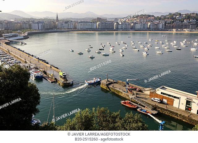 La Concha Bay. Donostia. San Sebastian. Gipuzkoa. Basque Country. Spain