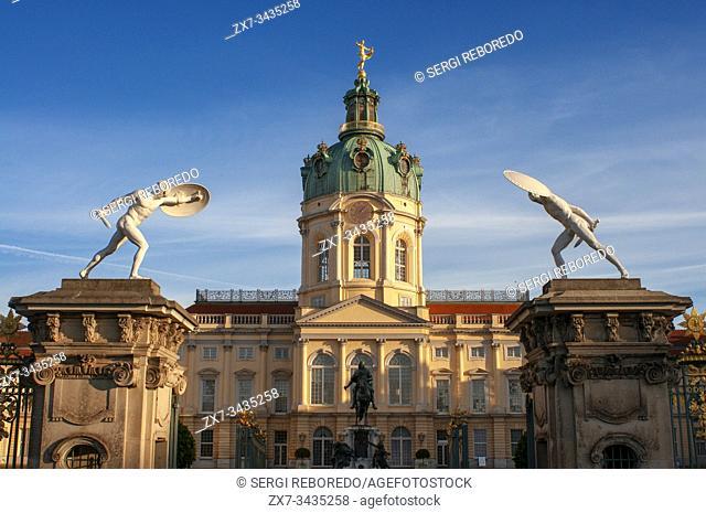 Charlottenburg Palace and its park Schlossgarten rebuilt after Second World War in Berlin Germany