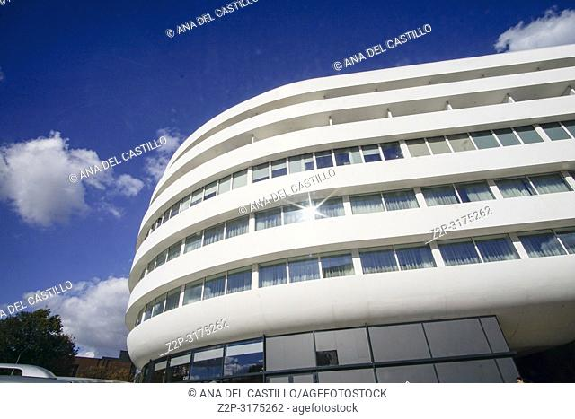 WROCLAW POLAND ON SEPTEMBER 25, 2018: Double tree by Hilton Hotel at ultra-modern OVA Complex in Wroclaw