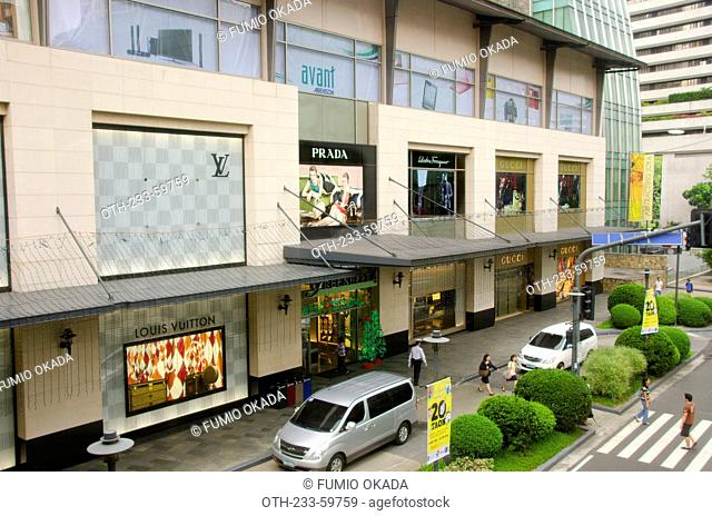 Brand boutiques at Greenbelt, Makati, Philippines
