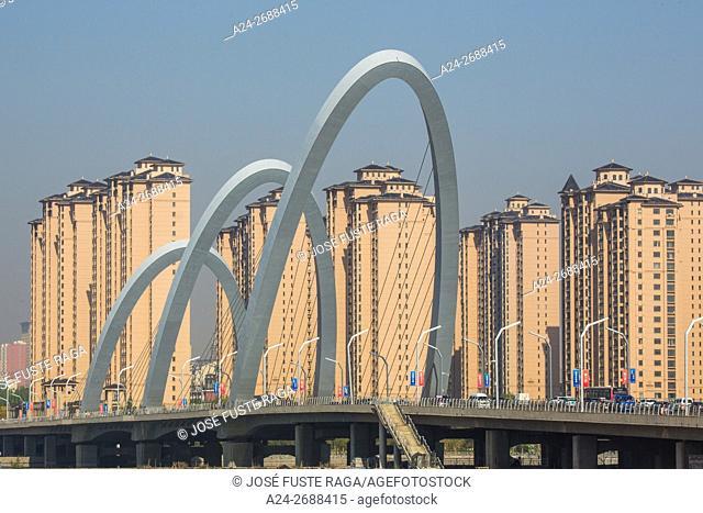 China, Shanxi Province, Daton City, Nanmiaowa Dsistric, New Bridge