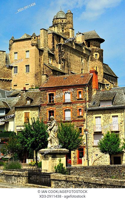 Castle of Estaing, Chateau dâ. . Estaing, Estaing, Aveyron Department, Occitane, France