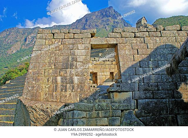 Machu Picchu,Los Andes and Urubamba or Vilcanota river canyon, Llaqtapata inca city, World Heritage, XVth century,Aguas Calientes,Urubamba province