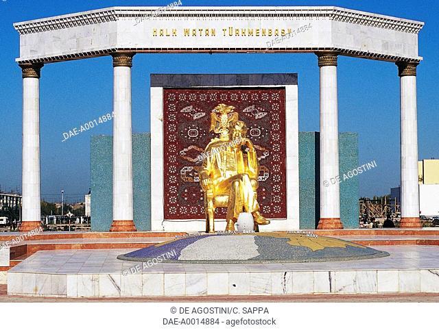 Monument to President Saparmurat Niyazov, Mary, Mary Province, Turkmenistan