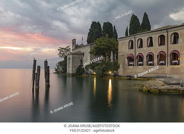 Punta San Vigilio, Garda, Lake Garda, Verona, Veneto, Italy, Europe