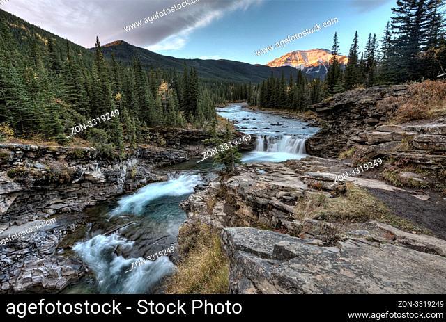 Sheep River Falls Allberta Canada morning sunrise