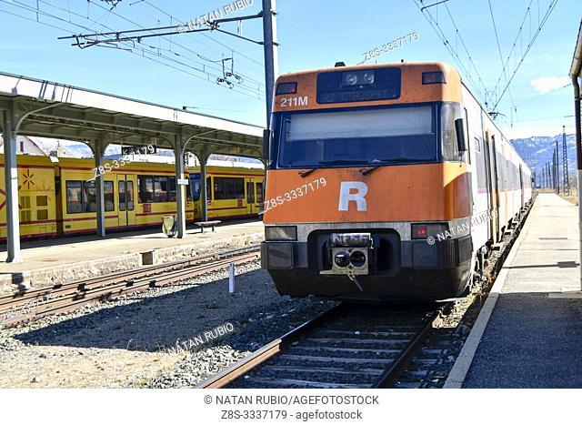 Commuter train, Latour de Carol, Midi Pyrenees, France
