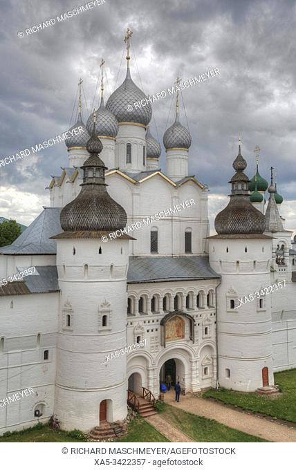 Resurrection Gate Church (1670), Kremlin, Rostov Veliky, Golden Ring, Yaroslavl Oblast, Russia