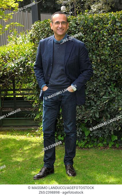 Carlo Conti; Conti; presenter TV ; celebrities; 2015;rome; italy;event; photocall; Si può fare