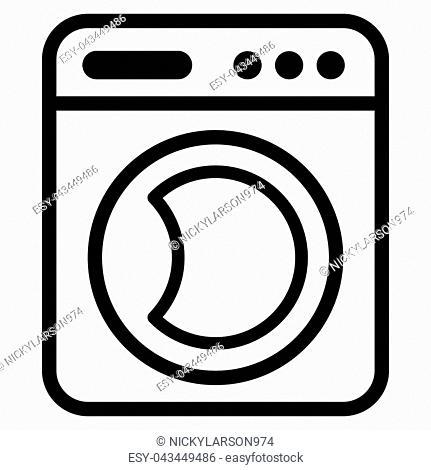 Illustration of washing machine icon concept