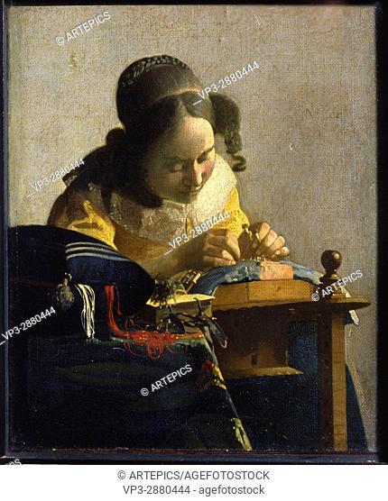 Vermeer de Delft, Jan Vermeer LA DENTELLIERE
