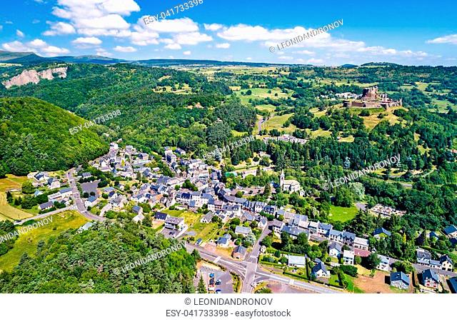View of Murol, a village in the Puy-de-Dome department of France