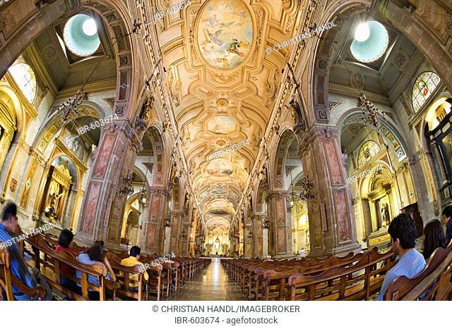 Cathedral interior, Santiago de Chile, Chile, South America