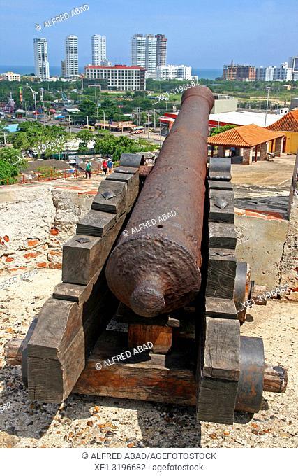 battery, castle of San Felipe de Barajas, Cartagena de Indias, Colombia