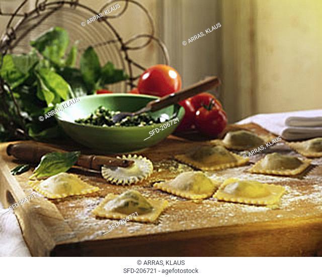 Fresh Spinach Ravioli